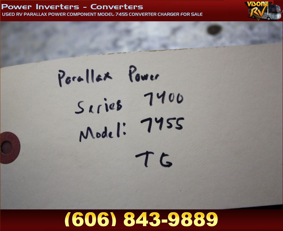 Rv Components Used Rv Parallax Power Component Model  7455