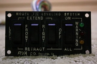 USED RVA LEVELING SYSTEMS SWITCH PANEL JII FOR SALE