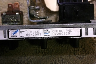 USED RV/MOTORHOME AC CONTROLS RV200729 FOR SALE