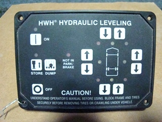 USED RV/MOTORHOME HWH HYDRAULIC LEVELING PANEL AP31351 FOR SALE