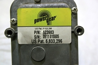 USED POWER GEAR SLIDE OUT MOTOR 523983 FOR SALE