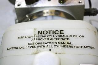 USED RV HWH HYDRAULIC PUMP AP40331 FOR SALE