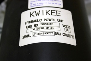 USED KWIKEE HYDRAULIC PUMP 2020010 FOR SALE