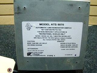 USED RV/MOTORHOME PARALLAX AUTOMATIC TRANSFER SWITCH