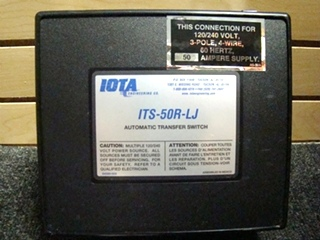 USED RV/MOTORHOME IOTA TRANSFER SWITCH ITS-50R-LJ