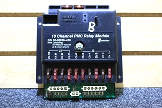 USED RV PARTS 10 CHANNEL PMC RELAY MODULE 00-00838-410 FOR SALE