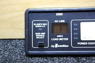 USED INTELLITEC EMS DISPLAY PANEL RV MOTORHOME PARTS FOR SALE