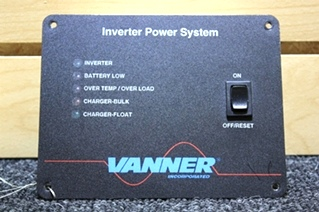 USED RV PARTS IQ-3600 SERIES VANNER INVERTER/CHARGER WITH REMOTE FOR SALE