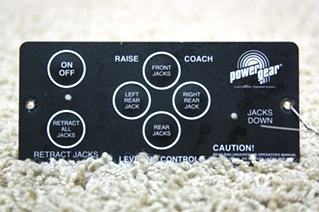 USED RV PARTS POWER GEAR LEVELING TOUCH PAD 500456 FOR SALE