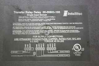 USED RV PARTS INTELLITEC TRANSFER RELAY DELAY 00-00803-100 FOR SALE
