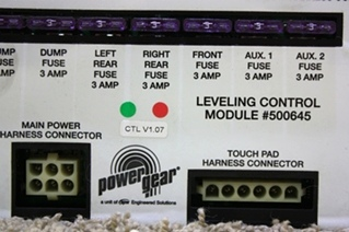 USED POWER GEAR LEVELING CONTROL MODULE 500645 RV PARTS FOR SALE