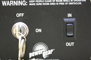 USED POWER GEAR SLIDE OUT SWITCH WITH KEY RV PARTS FOR SALE