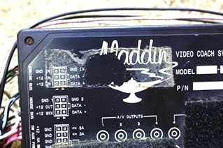 USED ALADDIN VIDEO COACH SYSTEM MONITOR WITH WIRE HARNESS FOR SALE