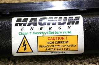 USED RV PARTS MAGNUM ENERGY INVERTER/BATTERY FUSE FOR SALE