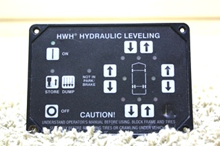 USED RV PARTS HWH HYDRAULIC LEVELING TOUCH PAD AP23304R4 FOR SALE