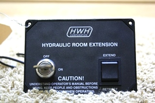 USED HWH HYDRAULIC ROOM EXTENSION WITH KEY AP11599 RV MOTORHOME PARTS FOR SALE