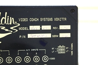 USED RV ALADDIN VIDEO COACH SYSTEMS MONITOR 38070302 FOR SALE