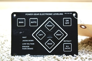 USED RV POWER GEAR LEVELING TOUCH PAD 140-1226 MOTORHOME PARTS FOR SALE