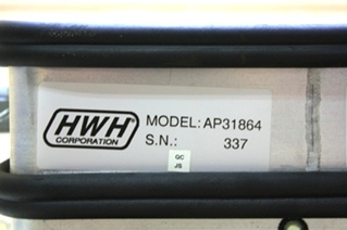 USED RV PARTS HWH LEVELING CONTROL BOX AP31864 FOR SALE