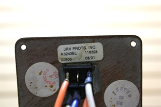 USED JRV SWITCH PANEL A3243BL RV PARTS FOR SALE