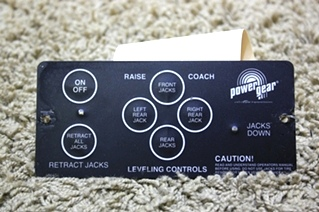 USED RV POWER GEAR LEVELING TOUCH PAD CONTROL 500456 MOTORHOME PARTS FOR SALE