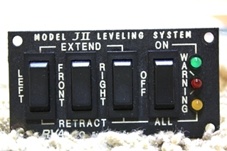 USED RV PARTS RVA JII LEVELING SYSTEM SWITCH PANEL FOR SALE