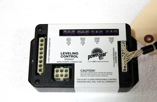 USED POWER GEAR LEVELING CONTROL & HARNESS P/N: 500457 *OUT OF STOCK*