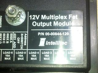 USED 12V MULTIPLEX FET OUTPUT MODULE INTELLITEC 00-00844-120