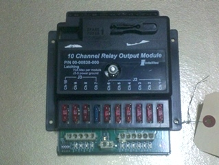 USED 10 CHANNEL RELAY OUTPUT MODULE LATCHING MODEL:  00-00838-000  **OUT OF STOCK**