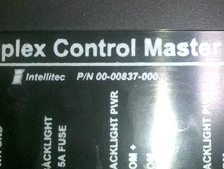 USED INTELLITEC MULTIPLEX CONTROL MASTER 00-00837-000
