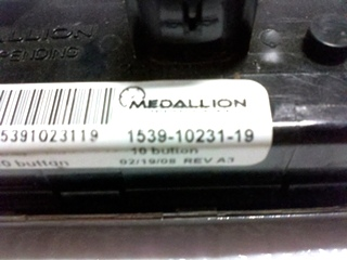 USED MEDALLION 10 BUTTON LIGHT MODULE PN: 1539-10231-19 FOR SALE