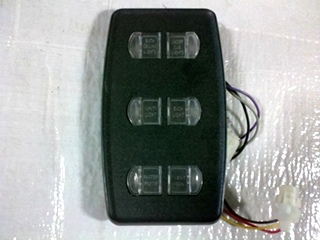 USED INTELLITEC 6 BUTTON LIGHT SWITCH P/N 00-00966-0161 FOR SALE