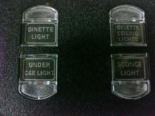 USED INTELLITEC 4 BUTTON LIGHT SWITCH P/N 00-00967-0063 FOR SALE