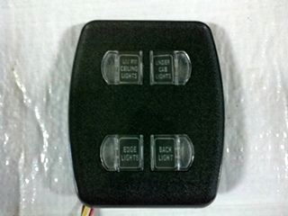 USED INTELLITEC 4 BUTTON LIGHT SWITCH P/N 00-00967-0066 FOR SALE