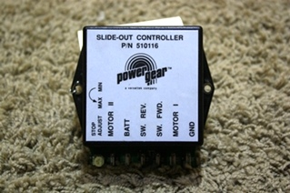 USED RV POWER GEAR SLIDE OUT CONTROLLER 510116 MOTORHOME PARTS FOR SALE