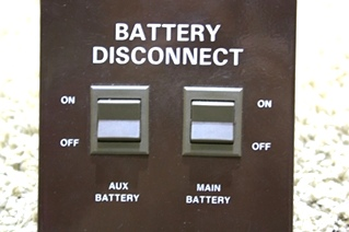 USED MOTORHOME BATTERY DISCONNECT SWITCHES RV PARTS FOR SALE