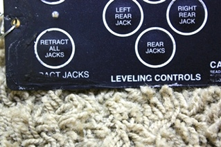 USED RV POWER GEAR LEVELING CONTROL TOUCH PAD 500456 MOTORHOME PARTS FOR SALE