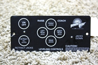 USED RV PARTS POWER GEAR LEVELING CONTROL TOUCH PAD 500456 FOR SALE