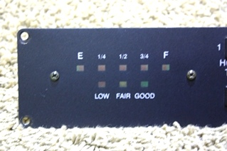 USED RV TANK INDICATOR PANEL L4440 MOTORHOME PARTS FOR SALE
