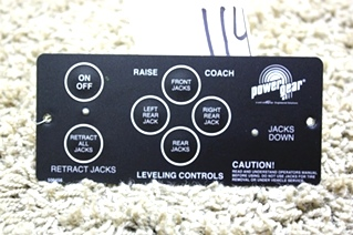 USED RV POWER GEAR LEVELING CONTROL TOUCH PAD 500456 MOTORHOME LEVELING PARTS FOR SALE