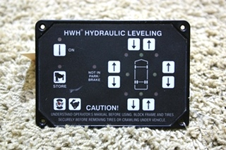 USED MOTORHOME HWH HYDRAULIC LEVELING TOUCH PAD AP20007 FOR SALE