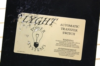 USED L.P.S AUTOMATIC TRANSFER SWITCH LPT 50BRD MOTORHOME PARTS FOR SALE