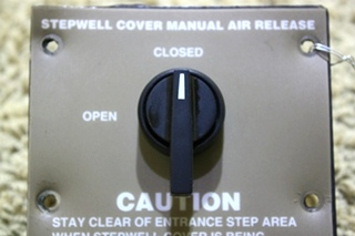 USED RV STEPWELL COVER MANUAL AIR RELEASE SWITCH FOR SALE
