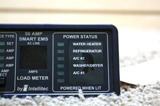 USED RV 50 AMP SMART EMS DISPLAY BY INTELLITEC 00-00684-100 FOR SALE