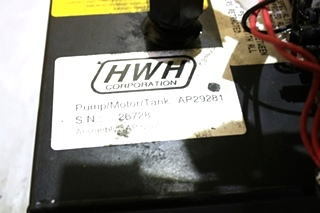USED HWH HYDRAULIC PUMP AP29281 RV PARTS FOR SALE