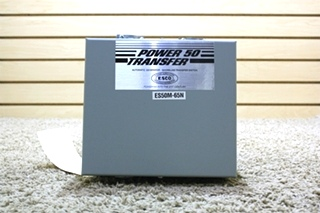 USED RV POWER 50 TRANSFER - SHORELINE TRANSFER SWITCH ES50M-65N FOR SALE