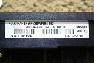 USED MOTORHOME ARENS CONTROLS SHIFT SELECTOR TOUCH PAD SBW-PB-601-03 FOR SALE