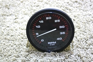 USED RV TACHOMETER 10326 DASH GAUGE MOTORHOME PARTS FOR SALE