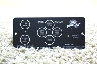 USED POWER GEAR RV LEVELING CONTROL TOUCH PAD 500456 FOR SALE