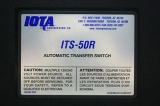 USED RV IOTA AUTOMATIC TRANSFER SWITCH ITS-50R MOTORHOME PARTS FOR SALE